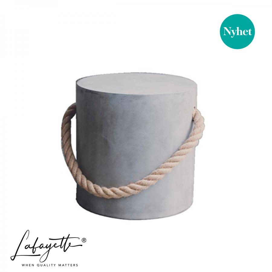 Puff Maritim Stool with Rope Grey 40cm